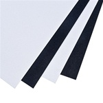 Photo of Black and White High Impact Styrene Plastic Sheets